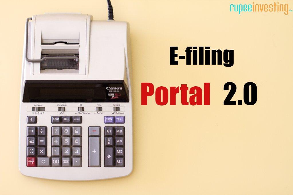 E-filing portal 2.0, Income tax new portal.